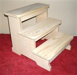XXLargeThree-Step Step Stool Unfinished
