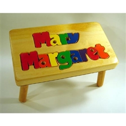 Puzzle Double Name Stool Maple - 14 Letters