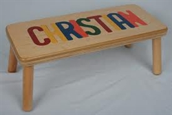 Puzzle Long Name Stool Maple - 16 Letters