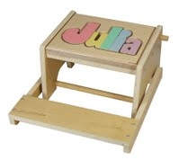 Puzzle Flip Stool Name Maple- 8 Letters