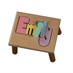 Puzzle Name Stool Maple - 8 Letters