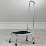 Clinton Medical Step Stool with Hand Rail