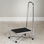 Clinton Large Bariatric Medical Step Stool with Handrail