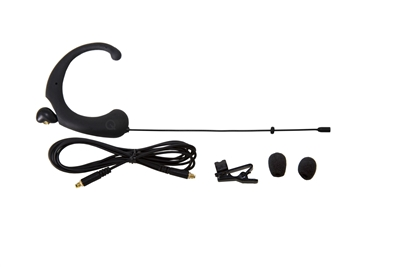 DA12 BL Single Ear Headworn Microphone, -45dB Omni, Black