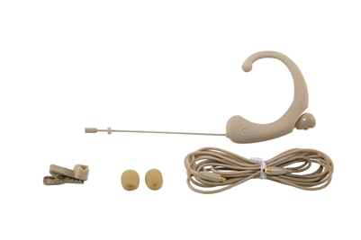 DA12 DE Single Ear Headworn Microphone PETITE, -45dB Omni, Beige