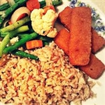 Tuesday, May 14th  / Fish Sticks, Rice, Veggies and Fruit