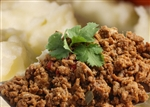Tuesday, May 7th Picadillo, Mashed Potato, Veggie and Fruit