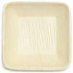 Palm Leaf Square Plates - 3 Inch Square
