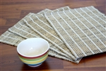 Hand Woven Banana Rope Striped Placemats ( 4 Pcs.)
