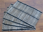 Hand Woven Banana Rope striped Place Mats ( 4 Pcs.)