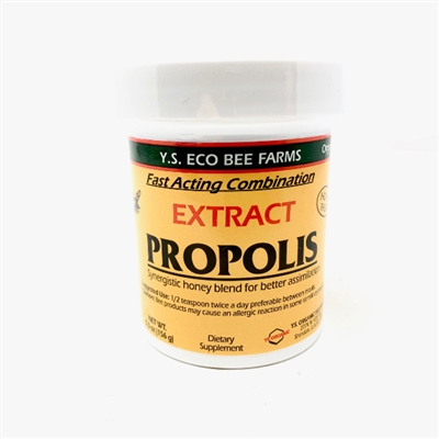 Y.S. Eco Bee Farms Honey with Propolis Extract, 5.5oz