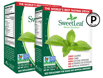 Stevia sweetener packets, 70 ct