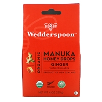 Manuka Honey Drops Ginger 4oz - approx 20 drops