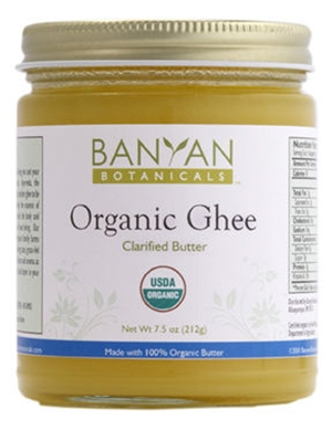 Organic Ghee: Jar: 7.5 Ounces