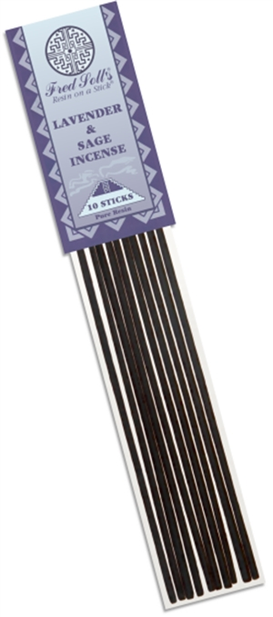 Lavender and Sage Incense: Plastic Package / Incense: 10 Sticks