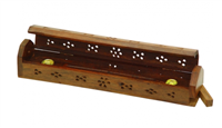 Carved Wood Incense Holder
