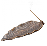 Ceramic Incense Burner Holder: Leaf