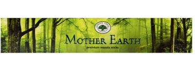 Green Tree Incense Sticks: Mother Earth: Pack of 12 Sticks