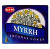 Myrrh Incense Cones; 10pk
