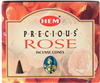 Precious Rose Hem Incense Cones: pack of 10