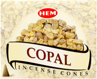Copal Hem Incense Cones: pack of 12