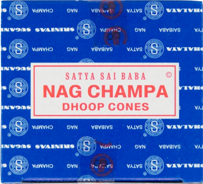 Nag Champa Hem Incense Cones: pack of 12