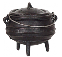 Cast Iron Cauldron Medium 5.5in Striped