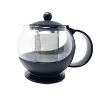 25 oz Tempered Glass Teapot Infuser with Stainless Steel Basket