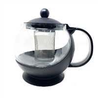 42 oz Tempered Glass Teapot Infuser with Stainless Steel Basket