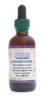 Shepherd's Purse: Dropper Bottle / Organic Alcohol Extract: 1 Fluid Ounce