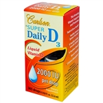 Super Daily D3 - Liquid Vitamin D (2000IU): Bottle: 365 Drops