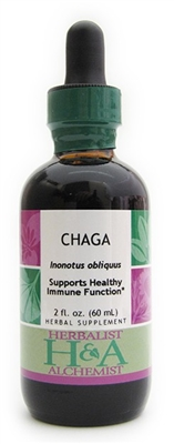 Chaga: Dropper Bottle / Organic Alcohol Extract: 2 Fluid Ounces