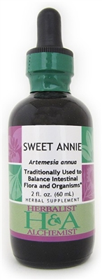 Sweet Annie: Dropper Bottle / Organic Alcohol Extract: 2 Fluid Ounces