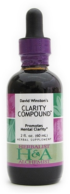 Clarity Compound: Dropper Bottle / Organic Alcohol Extract: 1 Fluid Ounce