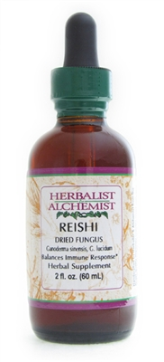 Reishi: Dropper Bottle / Organic Alcohol Extract: 1 Fluid Ounce