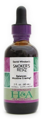 Smoker's ResQ: Dropper Bottle / Organic Alcohol Extract: 1 Fluid Ounce Only