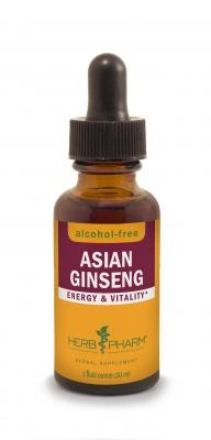 Ginseng Asian Glycerin 1 oz: Dropper Bottle / Organic Alcoholic Extract: 1 Fluid Ounce