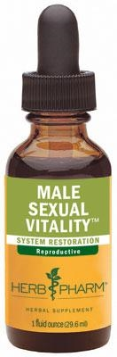 Male Sexual Vitality: Dropper Bottle: 1 Fluid Ounce