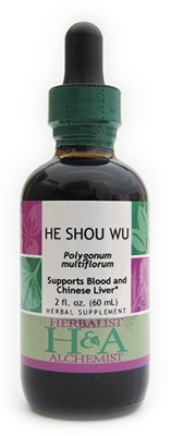 He Show Wu: Dropper Bottle / Organic Alcohol Extract / 2 Fluid Oz.