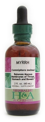 Myrrh: Dropper Bottle / Organic Alcohol Extract / 1 Fluid Oz.