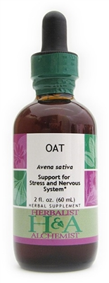 Oat: Dropper Bottle / Organic Alcohol Extract / 1 Fluid Oz.