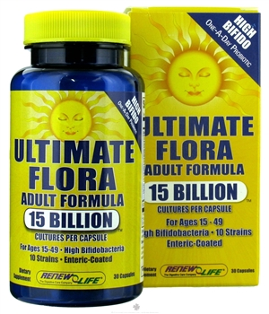 Ultimate Flora Adult Formula: Bottle / Capsules: 30 Capsules
