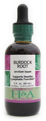Burdock Extract: Dropper Bottle / Organic Alcohol Extract: 1 Fluid Ounce