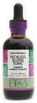Reckless Blood Tonic 2oz: Dropper Bottle / Organic Alcohol Extract: 2 Fluid Ounces