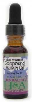 Compound Mullein Oil 2oz: Dropper Bottle: 2 Fluid Ounces