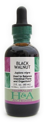 Black Walnut: Dropper Bottle / Organic Alcohol Extract: 1 Fluid Ounces