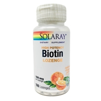 High Potency Biotin : 1,000 mcg, 100 Lozenges