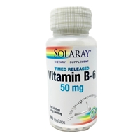 Vitamin B-6 : 100mg, 60 Vegetarian Time-Release Capsules