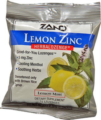 HerbaLozenge Lemon Zinc Lozenges: Package/Lozenges: 15 Lozenges