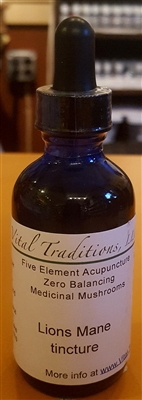 Lions Mane Tincture: Dropper Bottle / Liquid: 2 Fluid Ounces